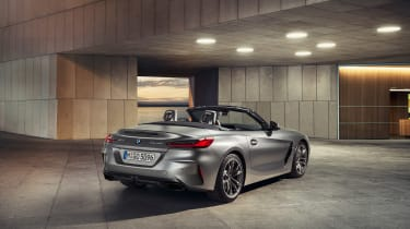 BMW Z4 M40i silver - rear quarter