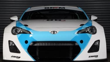 Toyota GT86 GT4 racing car front view