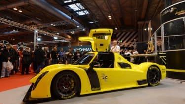 Radical RXC sports car yellow gullwing doors