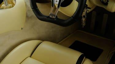 TVR Sagaris cream leather interior