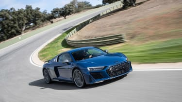 Audi R8 facelift review - front tracking