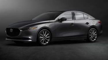 Mazda 3 saloon revealed - front quarter