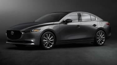 Mazda 3 saloon revealed - front quarter