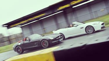 Mercedes SLS AMG Roadster Jaguar XKR-S Convertible