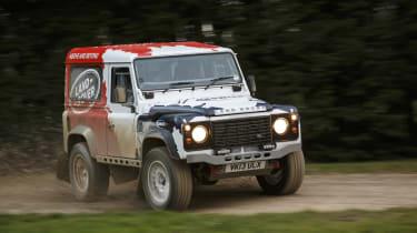 Land Rover Defender Challenge slide drift