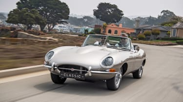 Jaguar E-type Zero - driving front