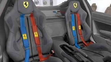 Ferrari 599 HGTE 60F1 seats