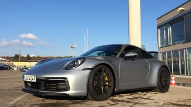 Porsche 911 on location - front quarter