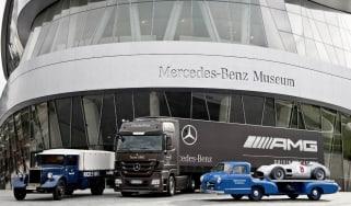 Mercedes car carrier