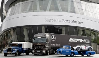 Mercedes car carrier