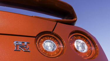 Nissan GT-R badge bootlid spoiler