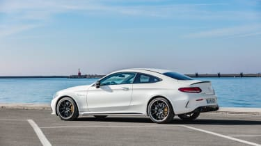 Mercedes-AMG C 63 S Coupe - white static rear