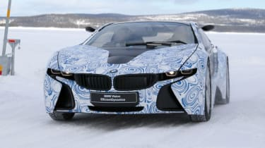 BMW i8 hybrid supercar spy pictures