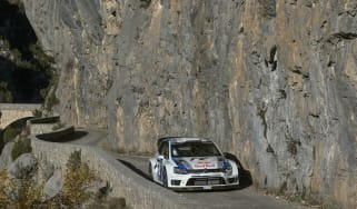 Volkswagen Polo WRC Monte Carlo rally testing