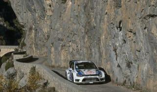 Volkswagen Polo WRC Monte Carlo rally testing