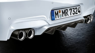 BMW lM6 carbon fibre exhaust finishers and diffuser