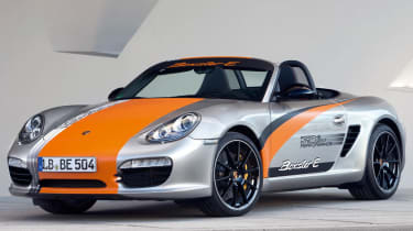 Porsche Boxster electric sports car