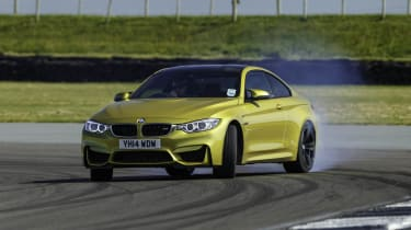 BMW M4 sideways