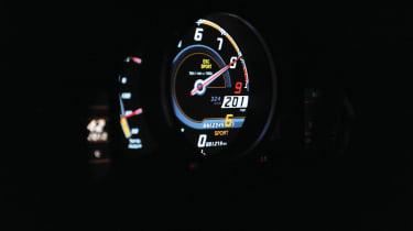 201mph in the Lamborghini Aventador