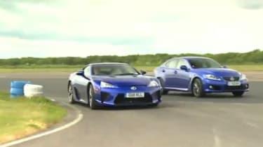Lexus LFA vs IS-F