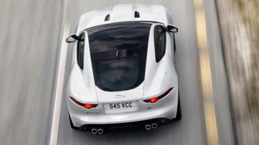 Jaguar F-type R Coupe Polaris White glass roof