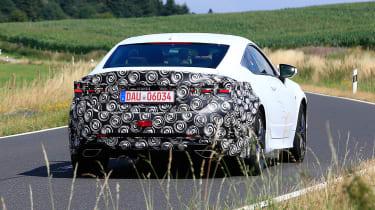 Lexus RC facelift spy - rear