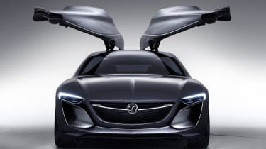 Opel Monza concept car gullwing doors up