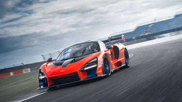 McLaren Senna at silverstone - front tracking