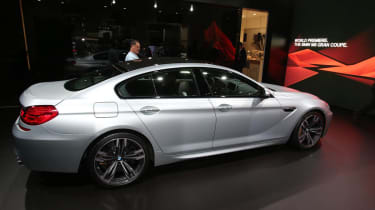 BMW M6 Gran Coupe at the Detroit show side profile
