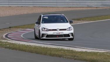 Volkswagen Golf GTI Clubsport front cornering