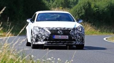 Lexus RC facelift spy -