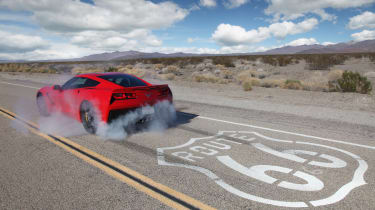 Chevrolet C7 Corvette Stingray - burnout