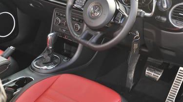 2013 Volkswagen Beetle Turbo Silver interior steering wheel