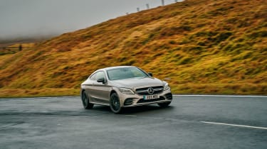 Mercedes-AMG C43 Coupe 2018 review - front cornering