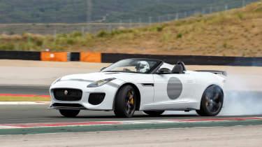 Jaguar F-Type Project 7 - white track slide