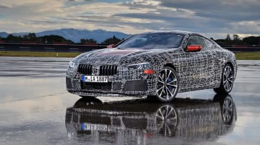 BMW 8 series official spy shots front static
