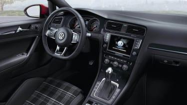 Mk7 VW Golf GTD interior tartan seats