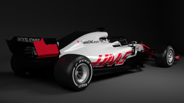 HAAS F1 car - rear quarter