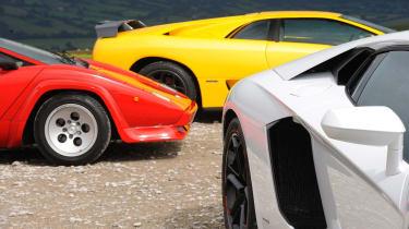 Lamborghini V12 group test Wales - scoops