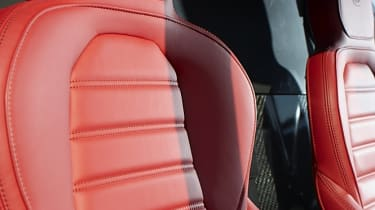Alfa Romeo 4C red leather sports seat
