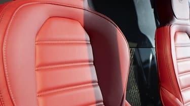 Alfa Romeo 4C red leather sports seat