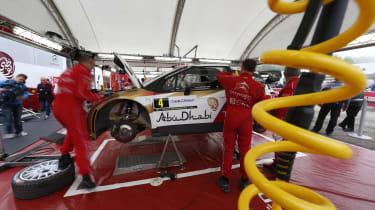 Citroen Racing WRC service