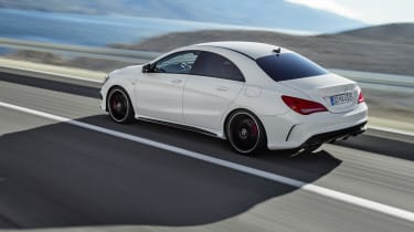 Mercedes CLA45 AMG white rear