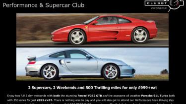Ferrari F355 GTB and Porsche 911 Turbo