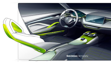 Skoda X drawings – interior