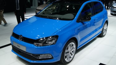 VW Polo 2014 facelift at the Geneva motor show 2014