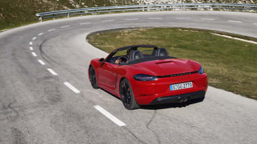 718 Boxster and Cayman GTS - rear driving