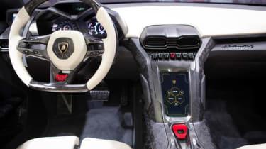 Lamborghini Urus SUV interior steering wheel