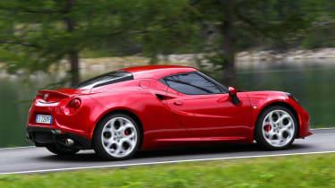 Alfa Romeo 4C red side profile