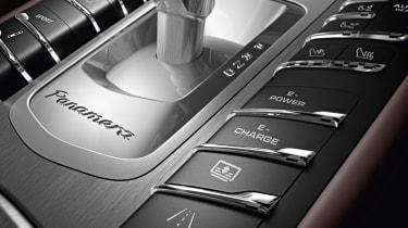 New Porsche Panamera S E-Hybrid gearstick E-mode